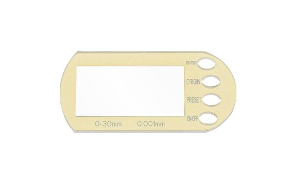 Silk print glass for instrument AGGM002